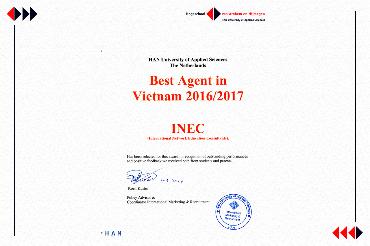 INEC tiếp tục trở thành đại diện tuyển sinh xuất sắc nhất Việt Nam của HAN trong năm 2016